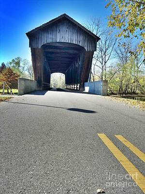 Millrace Park Covered Bridge - Columbus Indiana Art Print