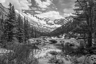 Photograph - Mills Lake Black And White by Aaron Spong