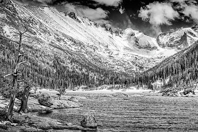 Mills Lake Monochrome Print by Eric Glaser