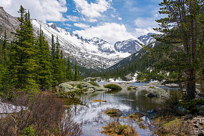 Mills Lake - Rocky Mountain National Park Print by Aaron Spong