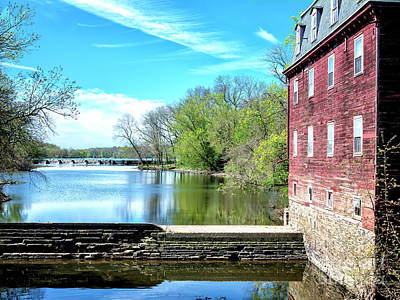 Red School House Photograph - Millstone River View by John Rizzuto