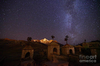 Astro Photograph - Milluni Cemetery And Night Skies Bolivia by James Brunker