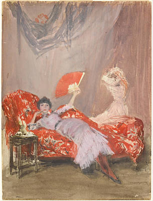 Chaise Longue Painting - Milly Finch by James McNeil Whistler