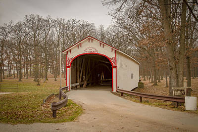 Photograph - Milroy/crown Point Covered Bridge by Jack R Perry