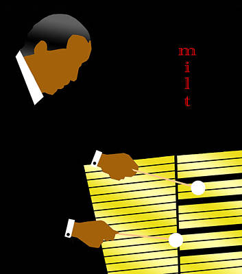 Mjq Digital Art - Milt Jackson by Victor Bailey