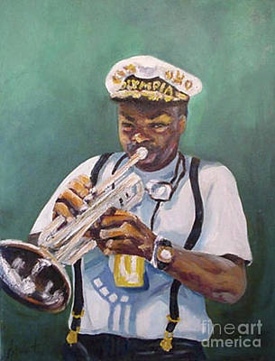 New Orleans Oil Painting - Milton Baptiste by Beverly Boulet