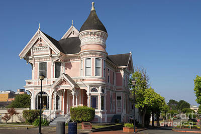 Photograph - Milton Carson Home Pink Lady Queen Anne Victorian Eureka California Dsc5407 by Wingsdomain Art and Photography