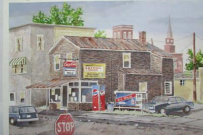 Painting - Milton Pa. Store by Tony Caviston