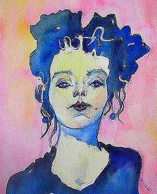 Painting - Milts Girl by Esther Woods