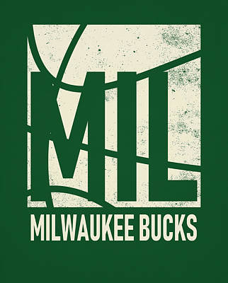Mixed Media - Milwauke Bucks City Poster Art by Joe Hamilton