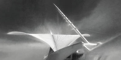 Charcoal Photograph - Milwaukee Art Museum September by Scott Norris