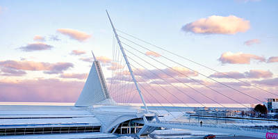 Photograph - Milwaukee Art Museum Sunset 1 by John McArthur