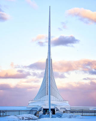 Photograph - Milwaukee Art Museum Sunset 2 by John McArthur