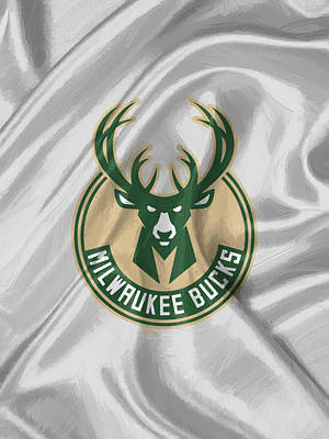 Uniforms Digital Art - Milwaukee Bucks by Afterdarkness