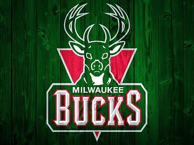 Milwaukee Bucks Barn Door Art Print