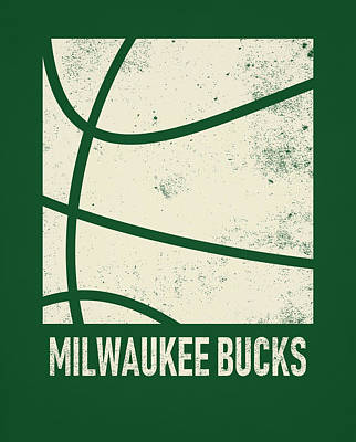 Mixed Media - Milwaukee Bucks City Poster Art 2 by Joe Hamilton