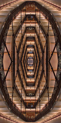 Milwaukee City Halll Atrium Art Print by Scott Norris