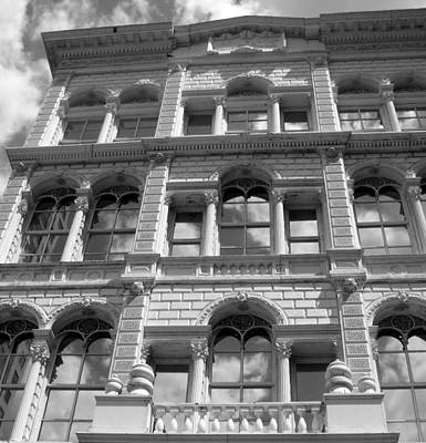 Photograph - Milwaukee Cloud Reflections Bw by Anita Burgermeister