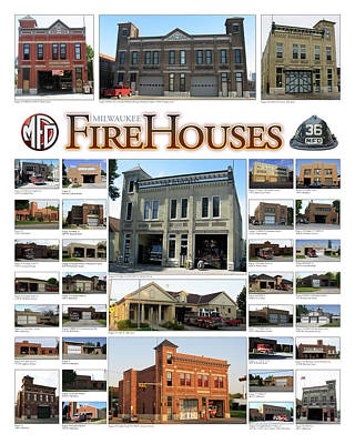Digital Art - Milwaukee Fire Houses by Geoff Strehlow