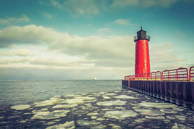 Photograph - Milwaukee Pierhead Light by Joel Witmeyer