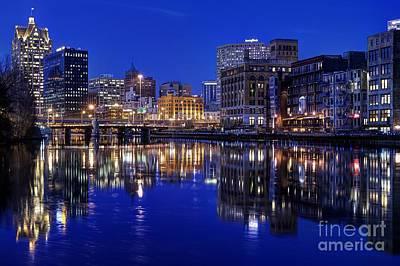 Photograph - Milwaukee River Twilight Winter by John December