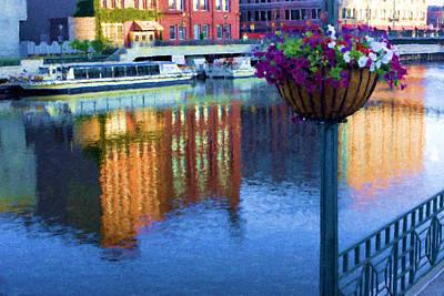Riverwalk Mixed Media - Milwaukee Riverwalk by Renee Skiba