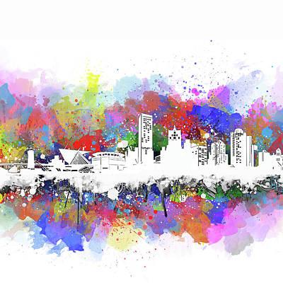 Digital Art - Milwaukee Skyline Artistic by Bekim Art