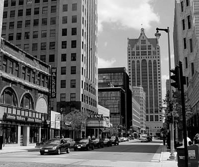Photograph - Milwaukee Street Scene B-w by Anita Burgermeister
