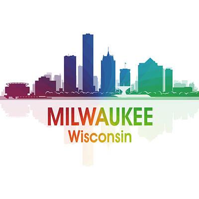 Digital Art - Milwaukee Wi 1 Squared by Angelina Tamez