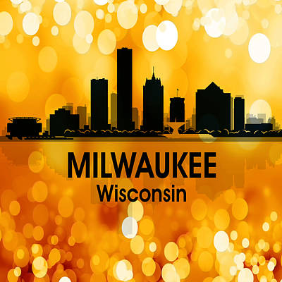 Digital Art - Milwaukee Wi 3 Squared by Angelina Tamez