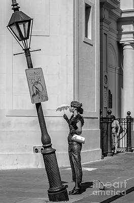 Photograph - Mime And Her Lamppost - Nola by Kathleen K Parker