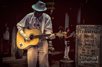 Photograph - Mime, Guitar, Crow- Nola by Kathleen K Parker