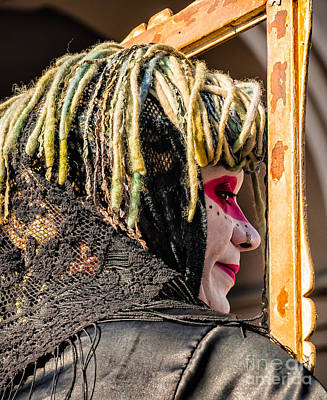 Photograph - Mime In The Frame- Nola by Kathleen K Parker