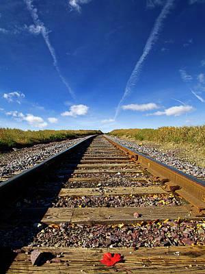Train Tracks Photograph - Mimic by Phil Koch