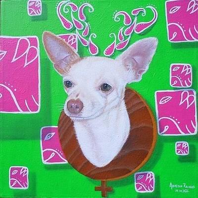 Mayan Dog Painting - Mimosa by Adrian Ramos