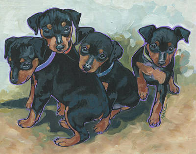 Min Pin Pups Original by Nadi Spencer