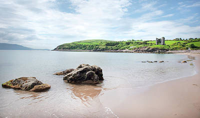 James Brown Photograph - Minard Beach And Castle by James Brown