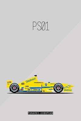 Painting - Minardi European Ps01 F1 Poster by Beautify My Walls
