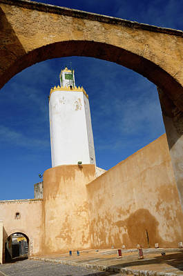 Morocco Photograph - Minaret Of The Grand Mosque Old Portuguese City El Jadida Morocc by Reimar Gaertner