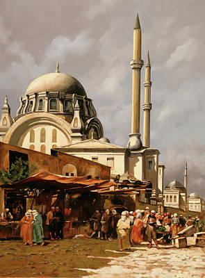Painting Royalty Free Images - Minareti Royalty-Free Image by Guido Borelli
