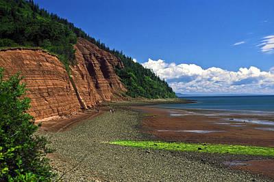 Minas Basin Nova Scotia Cliffs Art Print by Sally Weigand