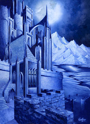 Literature Mixed Media - Minas Tirith by Curtiss Shaffer