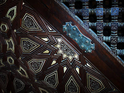 Wooden Platform Photograph - Minbar Detail by Debbie Oppermann