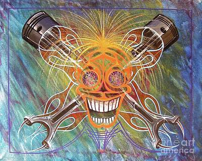 Painting - Mind Blown Motorhead  by Alan Johnson