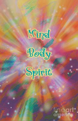 Digital Art - Mind Body Spirit Journey by Rachel Hannah