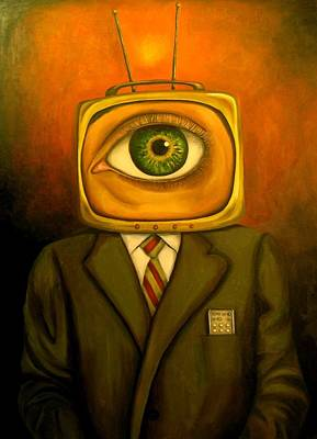 Television Painting - Mind Changer by Leah Saulnier The Painting Maniac