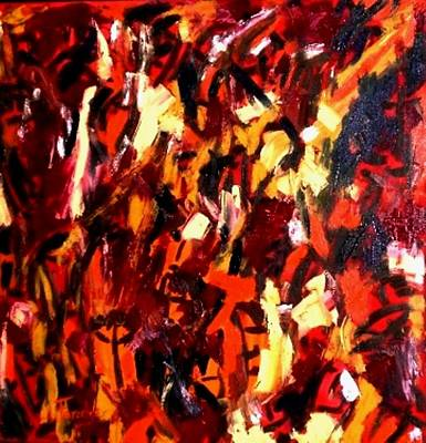 Painting - Mind Commotion  by Fareeha Khawaja