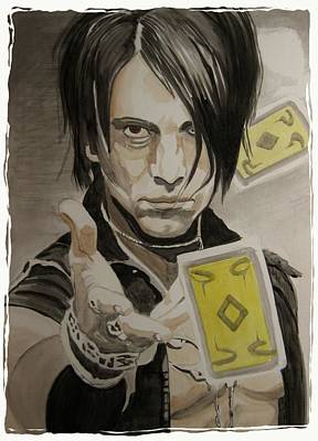 Acryllic Painting - Mind Freak Criss Angel by Robert Steen