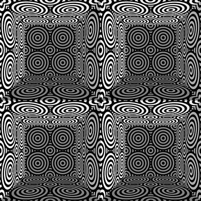 Optical Illusion Drawing - Mind Games 3d 3b by Mike McGlothlen