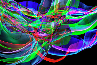 Photograph - Mind Games An Abstract Of Colored Wires In Motion by Randall Nyhof